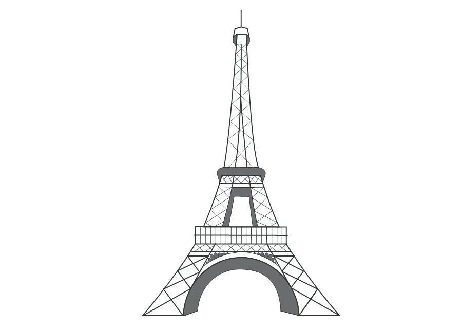 900x640 Eiffel Tower Drawings Free Tower Black Eiffel Tower Sketch Free