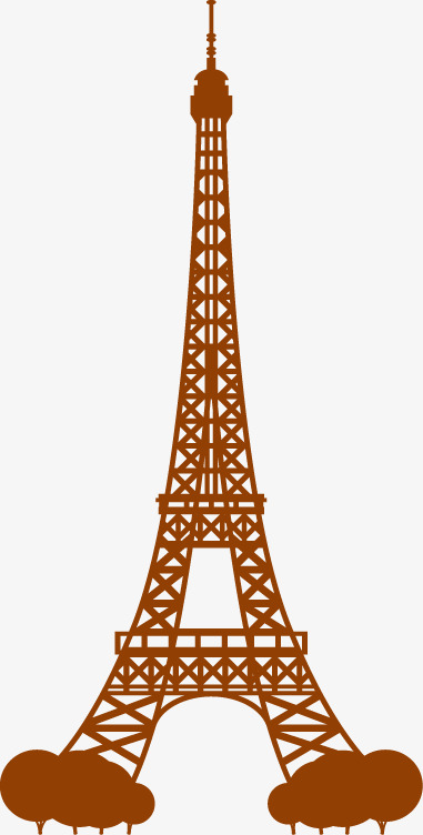 381x752 Eiffel Tower Vector Free Download