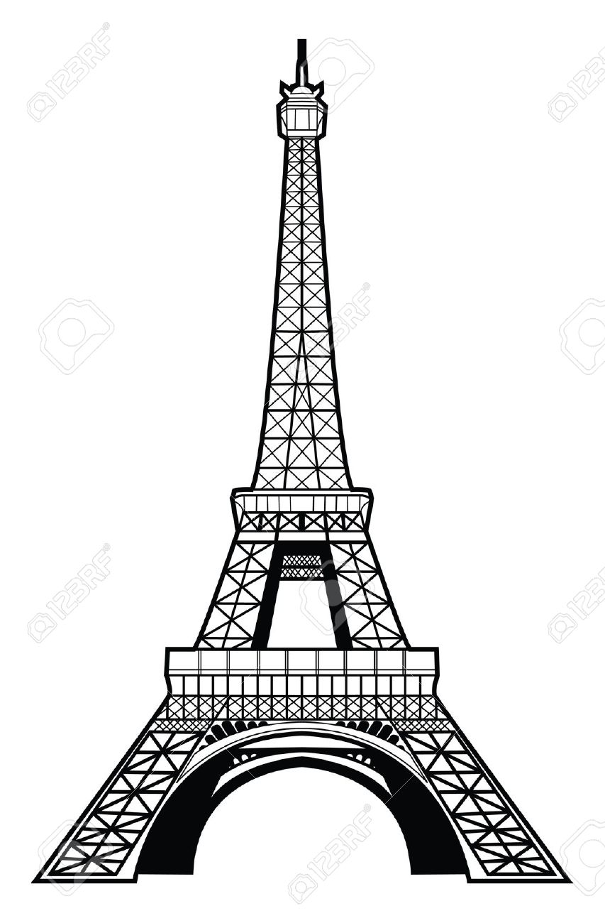 853x1300 Collection Of Black Eiffel Tower Drawing High Quality, Free