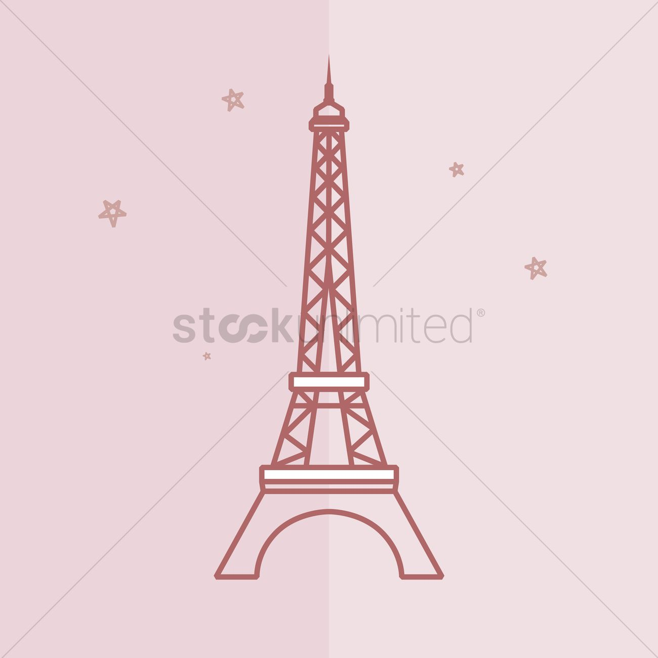 1300x1300 Free Eiffel Tower Vector Image