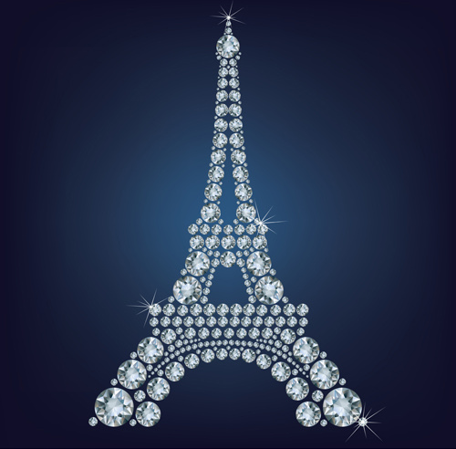 500x492 Diamonds Eiffel Tower Vector Background Free Vector In