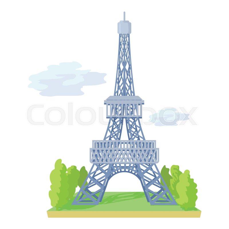 800x800 Eiffel Tower Icon. Cartoon Illustration Of Eiffel Tower Vector
