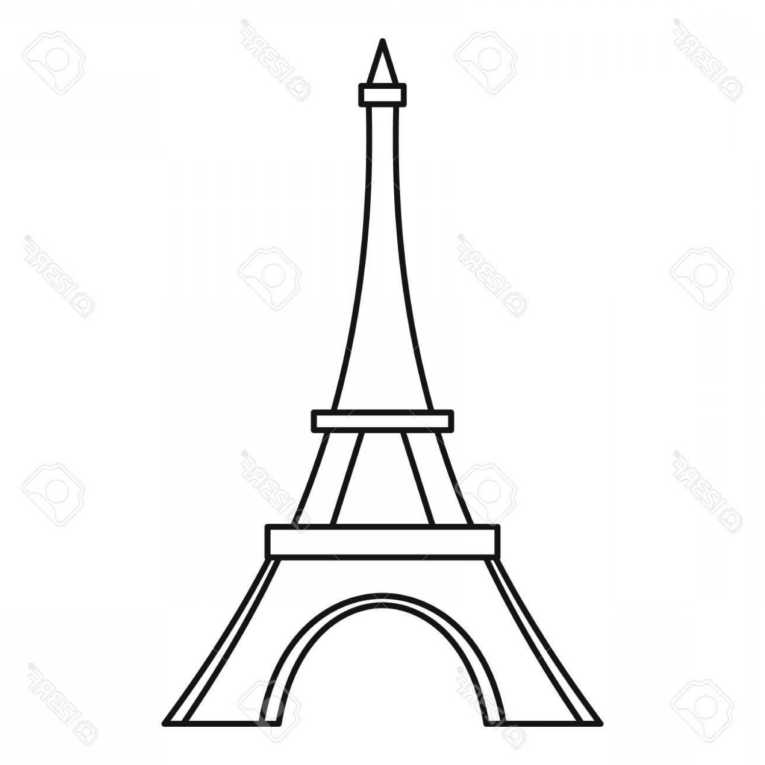 1560x1560 Photostock Vector Eiffel Tower Icon Outline Illustration Of Eiffel