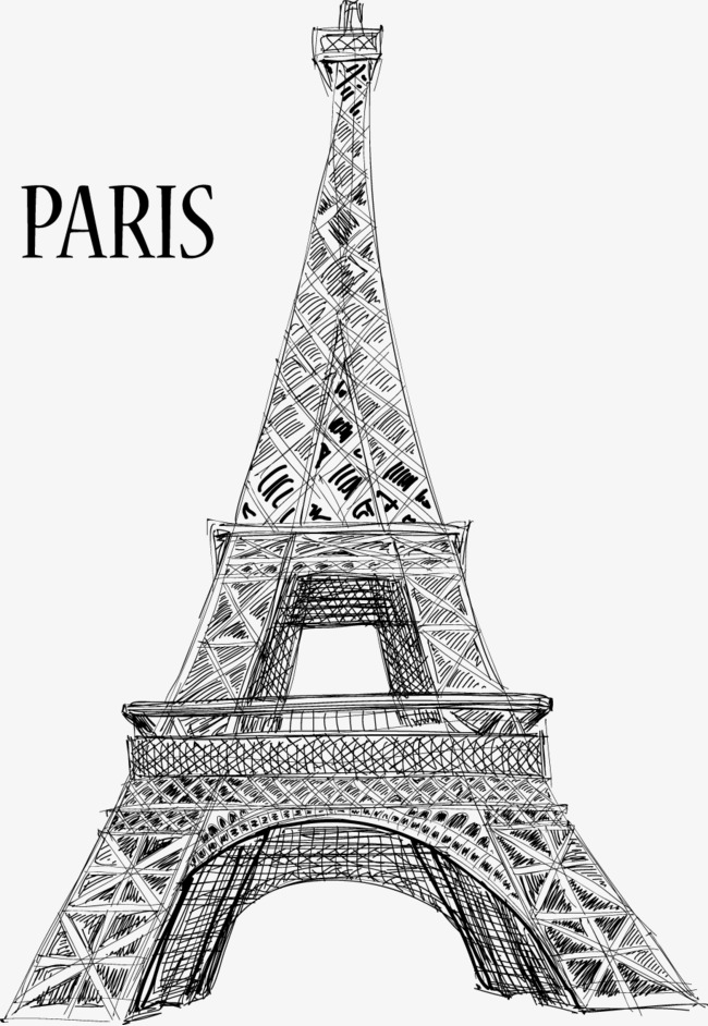 650x942 Eiffel Tower Vector Material, Eiffel Tower, Vector, Material Png