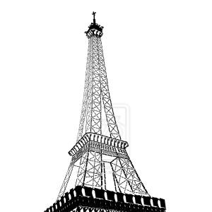 300x300 Cartoon Drawing Of Eiffel Tower Eiffel Tower Vector Free Download