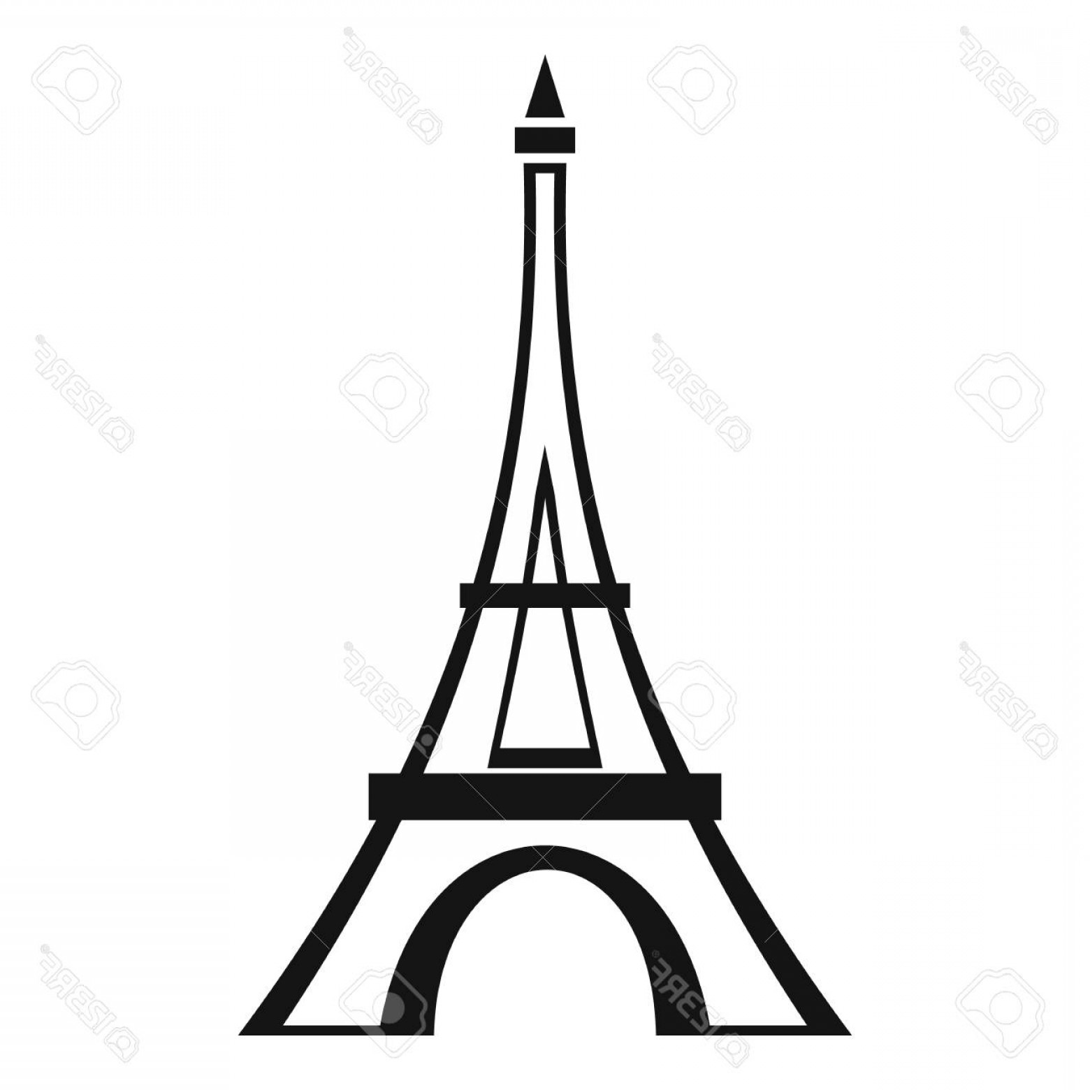 1560x1560 Photostock Vector Eiffel Tower Icon Simple Illustration Of Eiffel