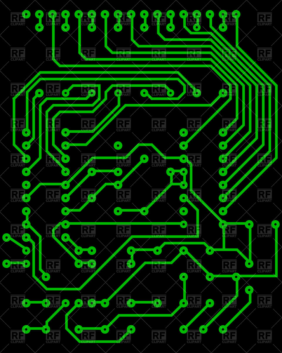960x1200 Electric Circuit Vector Image Vector Artwork Of Backgrounds