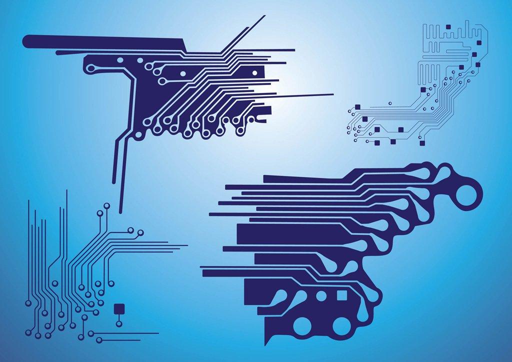 1024x724 Electronic Circuit Vector Art Amp Graphics