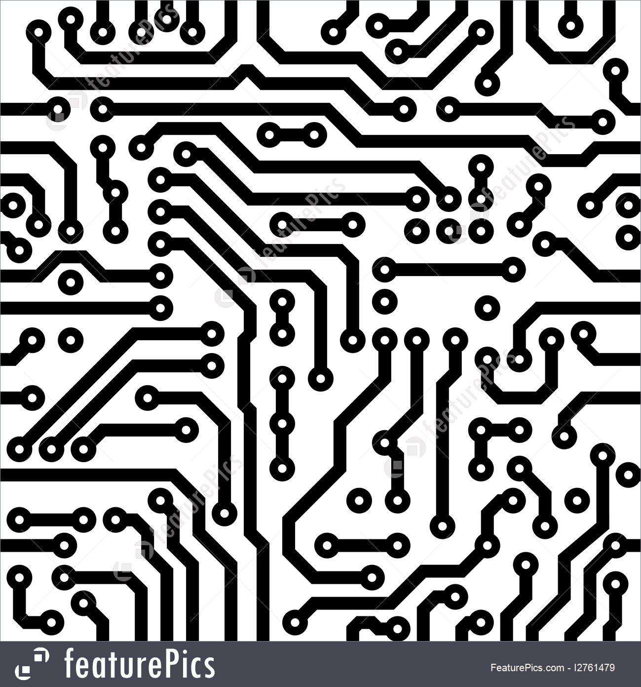 1299x1391 Technology Seamless Circuit Board