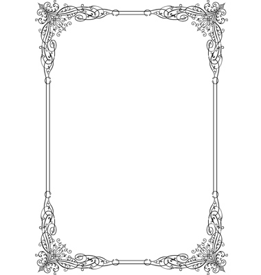 380x400 Elegant Borders Vector Elegant Frame Vector By Barbulat On