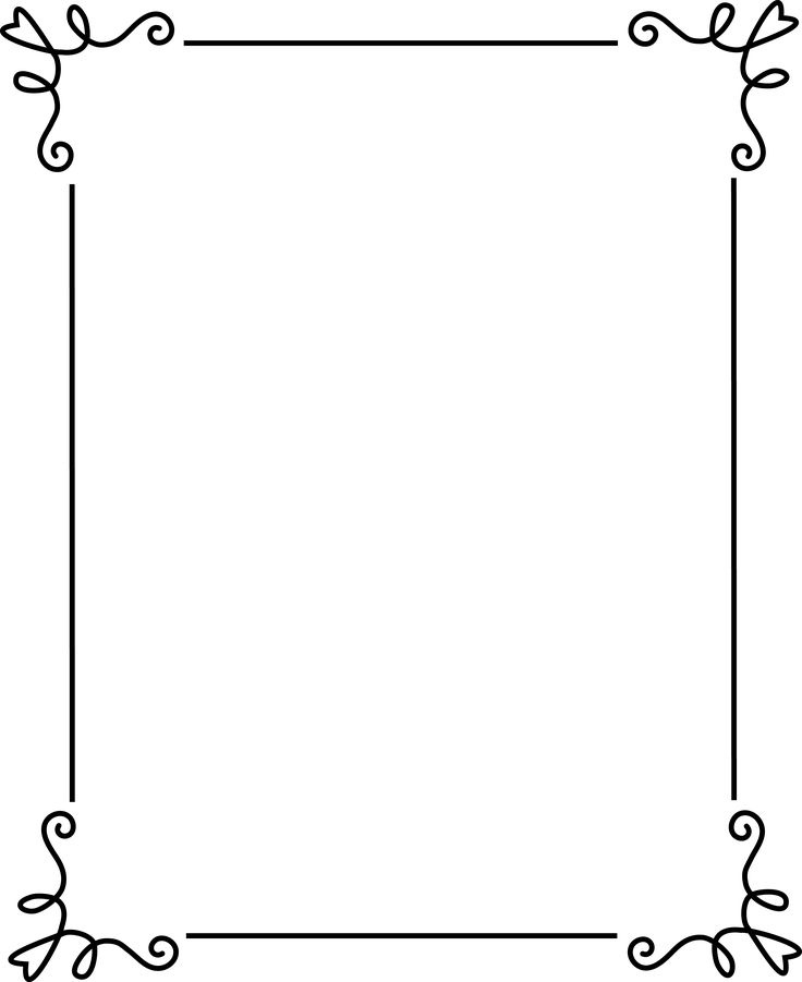 736x901 Free Frames Simple Elegant Black Frame