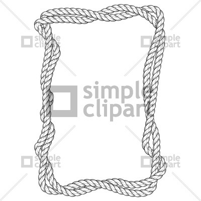 400x400 Rope Clipart Elegant Twisted Rope Frame Two Interlaced Ropes