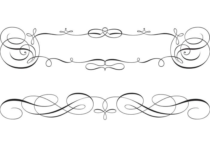 700x490 Swirly Scroll Frame And Border Vectors