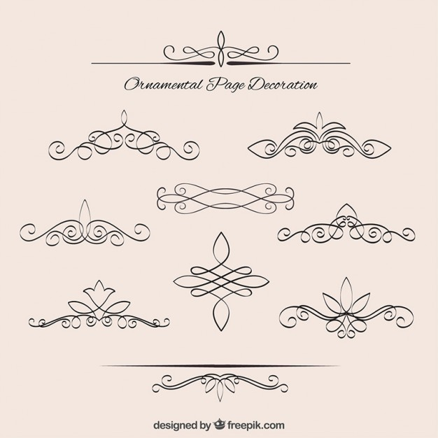 626x626 Collection Of Vintage Elegant Borders Vector Premium Download