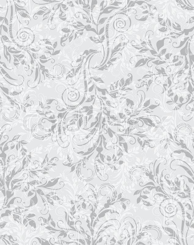634x800 Elegant Decorative Floral Seamless Eps10 Pattern Stock Vector