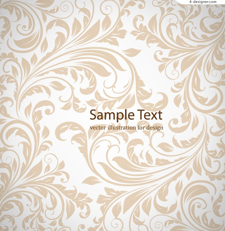 755x777 4 Designer Simple And Elegant Pattern Background Vector Material