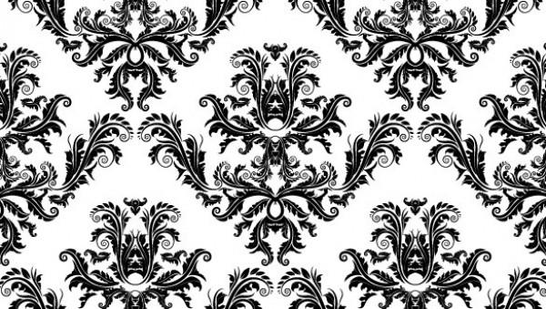 600x339 Free Pdf Down Elegant Damask Seamless Vector Pattern