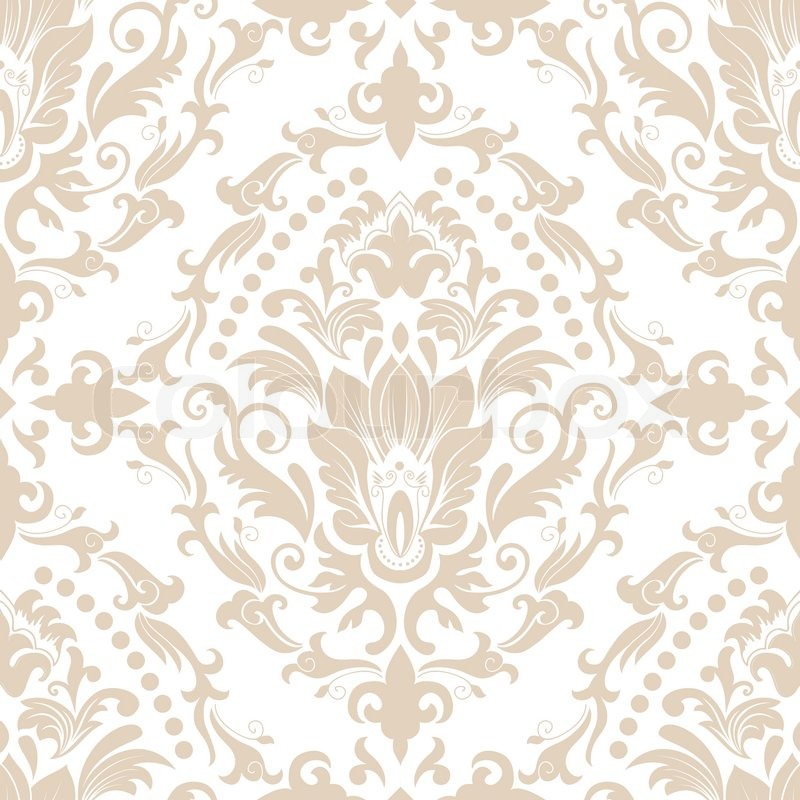 800x800 Vector Damask Seamless Pattern Element. Elegant Luxury Texture For