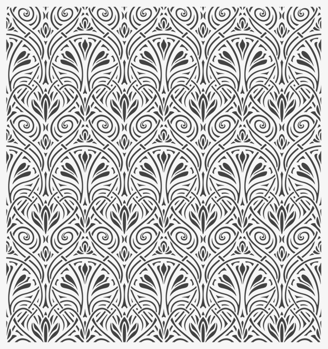 650x690 Classical Elegant Pattern Background Vector, Pattern Vector