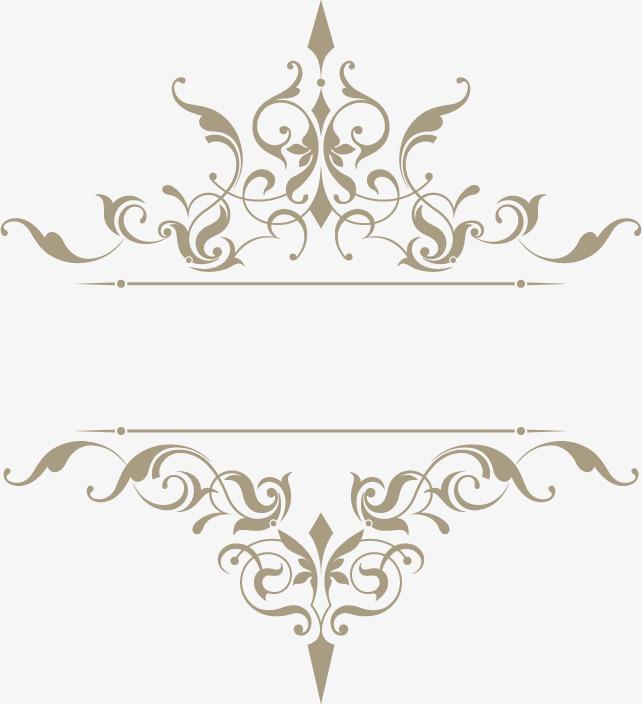 642x704 Elegant Classical Pattern Vector Material, Pattern Vector