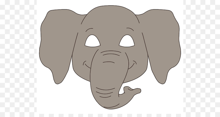 900x480 Elephant Face Glasses Clip Art