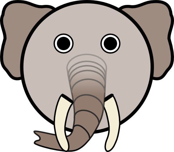 600x524 Free Elephant Head Clipart Image