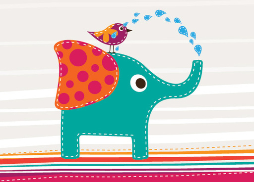 512x368 Vector Cute Elephant Face Free Vector Download (6,291 Free Vector