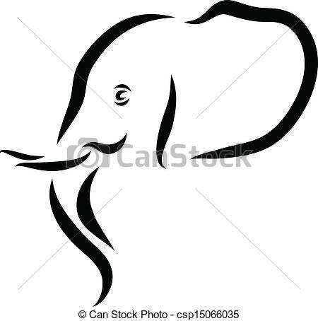 450x454 Vectors Of Elephant Head