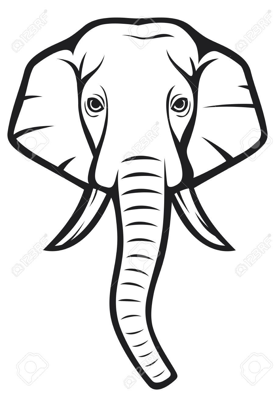 903x1300 Elephant Head Royalty Free Vector Image Vectorstock. Elephant Head
