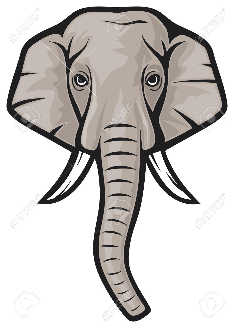 927x1300 Best Elephant Head Clipart