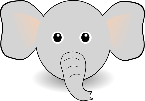 600x418 Collection Of Free Vector Elephant Leaf. Download On Ubisafe