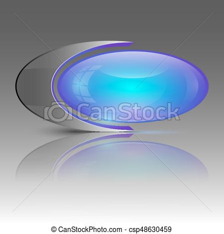 450x470 Purple Ellipse Logo. Vector Illustration Of Purple And Blue
