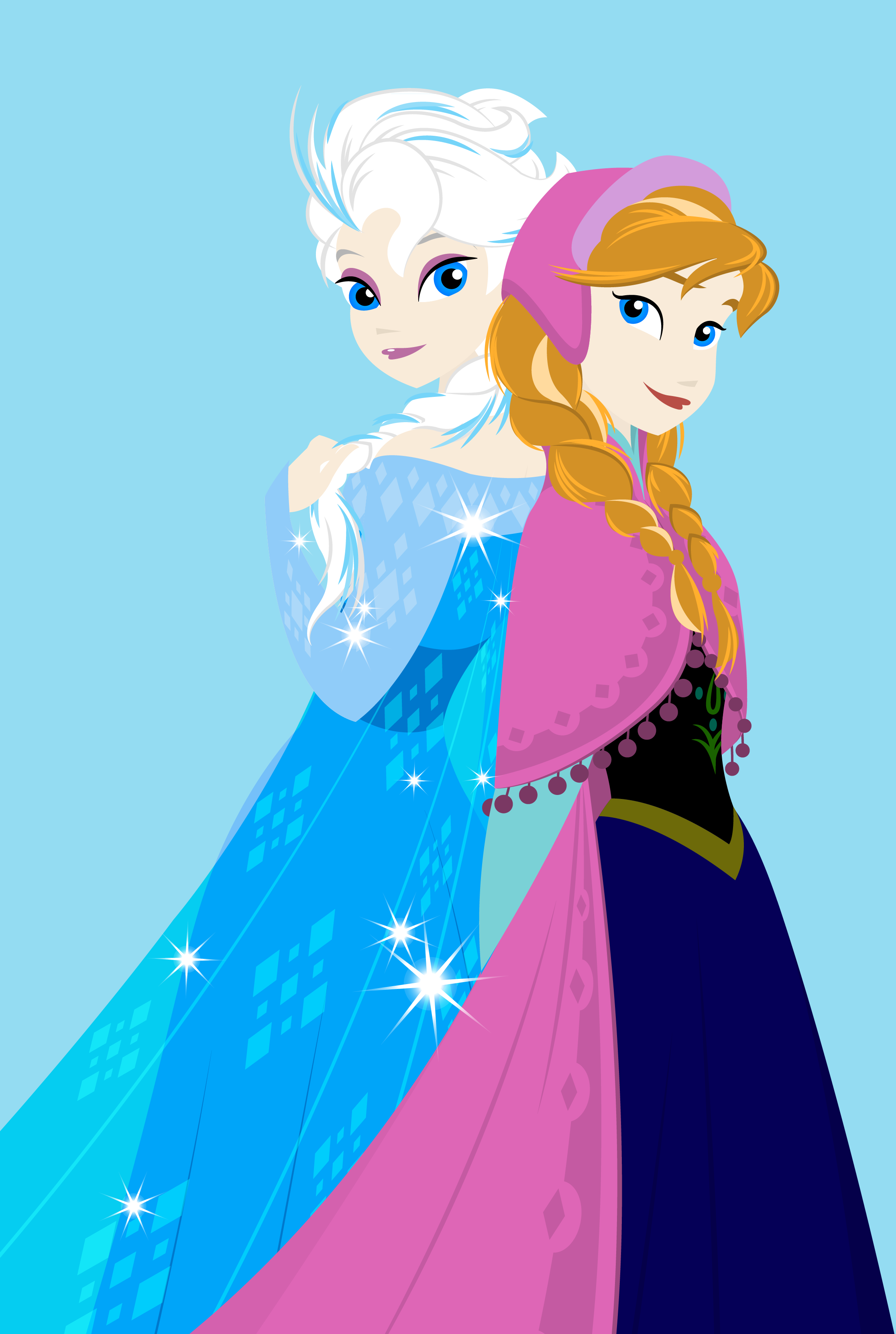 Elsa And Anna Vector At GetDrawings