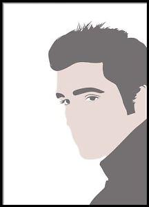 216x300 Elvis Portrait, Minimalistic , Famous Portrait , Vector Art