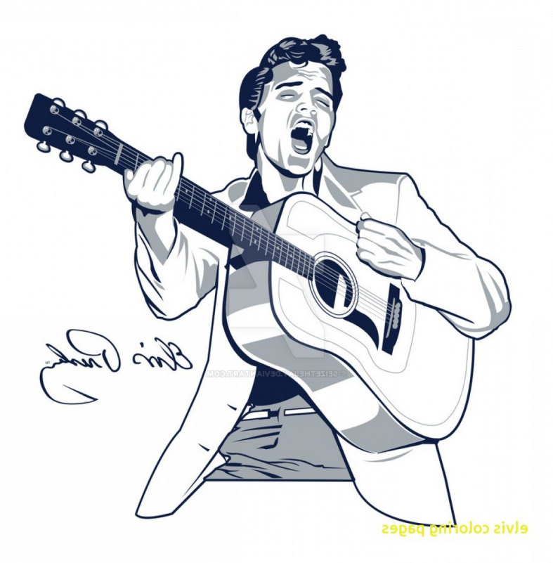 Elvis Vector At Getdrawings Com Free For Personal Use Elvis Vector