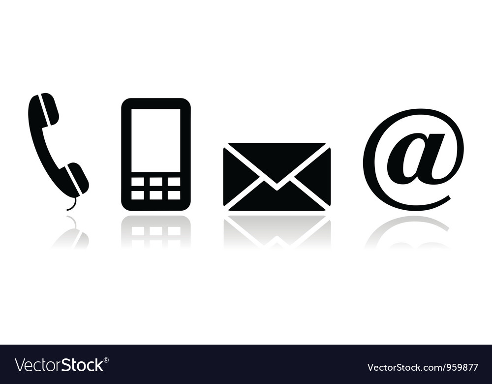 1000x780 Phone Email Icon Vector