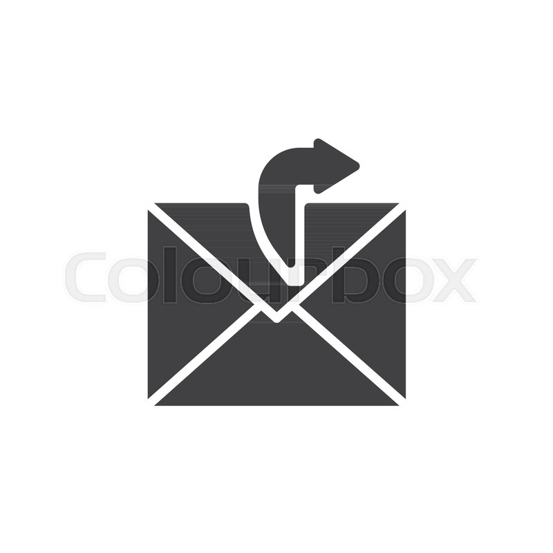 800x800 Sending Email Icon Vector, Filled Flat Sign, Solid Pictogram