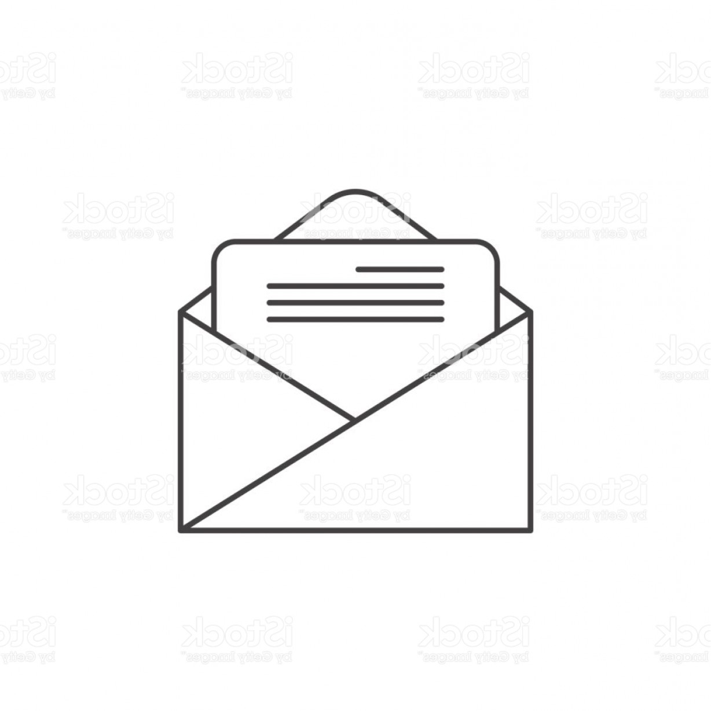 1228x1228 Email Symbol Vector Thin Border Lazttweet