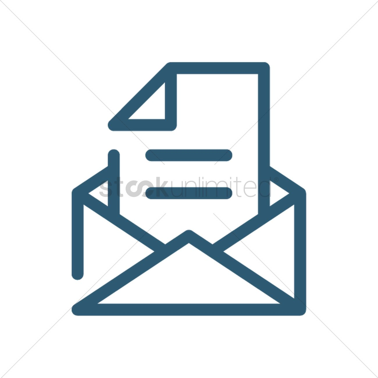 1300x1300 Email Symbol Vector Image