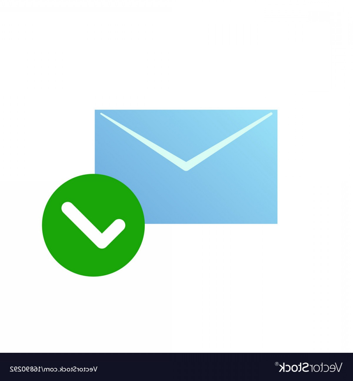 1200x1296 Check Message Icon Email Symbol With Green Vector Sohadacouri