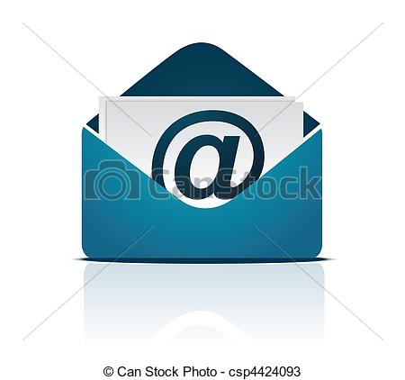 450x422 Email Sign Vector. Envelope Email Sign Isolated On White. Vector