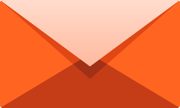 600x360 Orange E Mail Icon Free Vector Data. Svg(Vector)public Domain