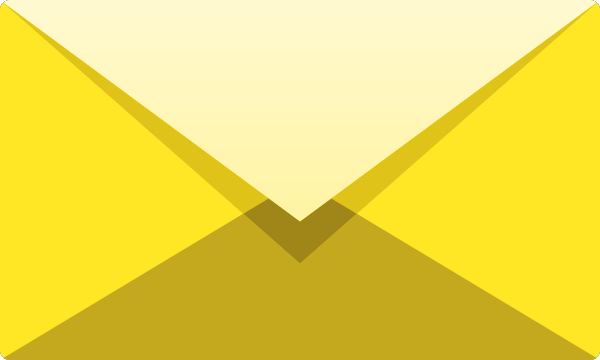 600x360 Yellow E Mail Icon Free Vector Data. Svg(Vector)public Domain