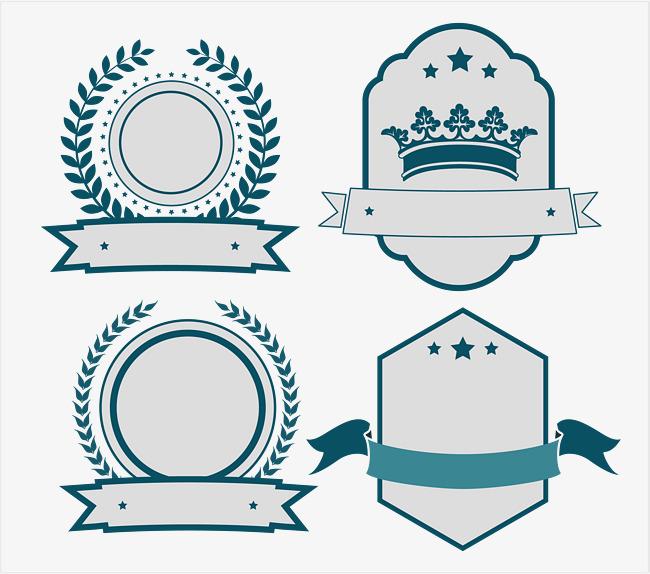 650x574 Gray Embellishment Badge Collection Badge, Badge Vector, Gray
