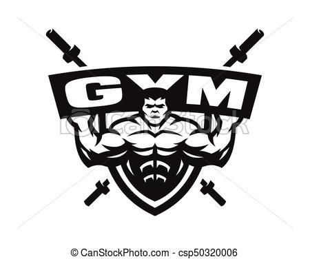 450x376 Gym Monochrome Logo, Emblem. Sport Gym Monochrome Logo, Emblem