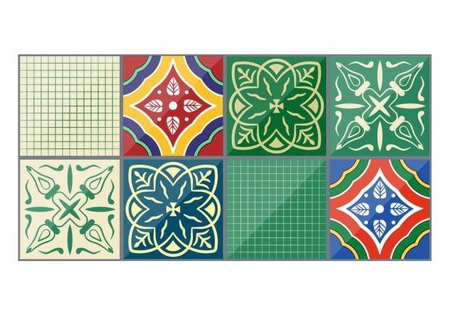 632x443 Emerald Vector Talavera Tiles Free Vector Download 353733 Cannypic