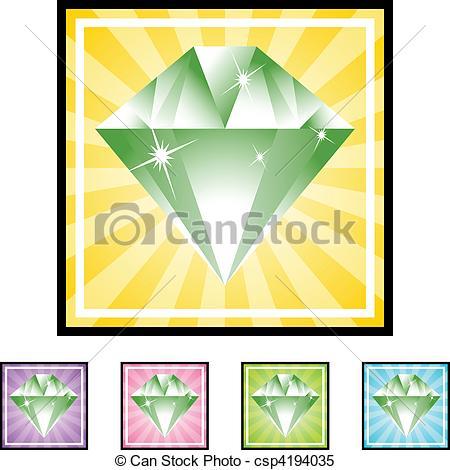 450x470 Emerald Clipart Vector