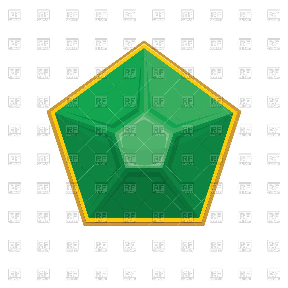 1200x1200 Emerald Gemstone Vector Image Vector Artwork Of Signs, Symbols