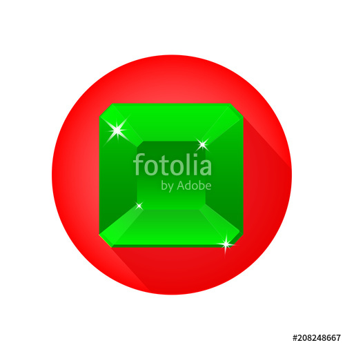 500x500 Emerald Icon. Flat Illustration Of Emerald Vector Icon For Web