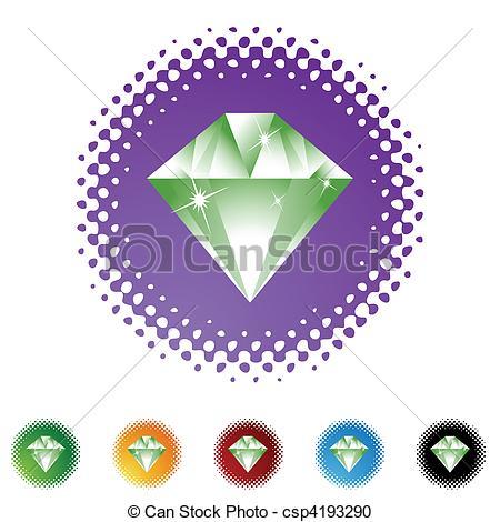 450x470 Emerald Vector Clipart
